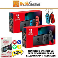 Trade in Nintendo Switch Console V2 New Model Neon Red Blue