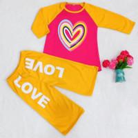Stelan Anak Celana Kulot/ Baju Stelan Perempuan umur 5 - 10 tahun