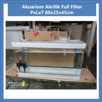 Akuarium Besar Full Filter 80x25x45cm