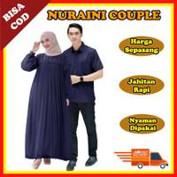 Baju Muslim Pasangan Busana Muslim Couple Gamis Dan Atasan Pria SC010