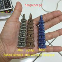 Miniatur Pagoda Mini Bahan Keramik