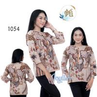 1054 Blouse Batik Tambal Pulau - Atasan Baju Kemeja Wanita Tradisional - S