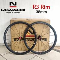 Wheelset Carbon NOVATEC R3 Rim Brake Clincher 38mm