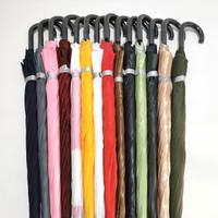 payung golf otomatis buka bahan berkualitas gagang bengkok J murah