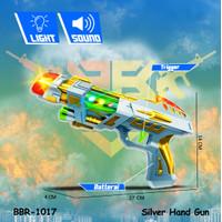 Mainan Anak Pistol Hand Gun Tembakan Baterai Suara BIGBANG BRO1017 - SILVER