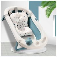 Baby Bathtub Bak Mandi Bayi Silikon dengan Matras Mudah Dilipat