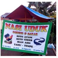 Spanduk Print Kain Bahan TC Teton Cotton Umbul Umbul