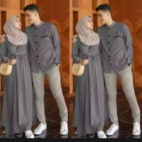 baju couple pasangan muslim lebaran terbaru 2021