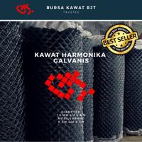 kawat pagar harmonika / kawat galvanis / 1.6 mm / 1m2