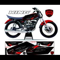 STICKER MOTOR VARIASI RX KING STRIPING MOTOR CUSTOM LIS SIMPLE