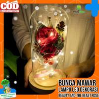 Bunga Mawar Lampu LED Dekorasi Kado Pacar Ulang Tahun Valentine