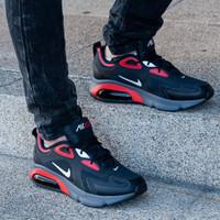 Diskon 55% +++ Sepatu Nike Air Max 200 Black Red Original