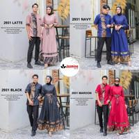Baju Couple Set Gamis Longdress dan Koko Toyobo Lebaran Terbaru 2021