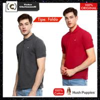Kaos Polo Hush Puppies Faldo Original 100% - Faldo Merah, L
