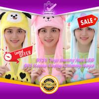 BT21 Topi Bunny Hat LED Karakter BTS Korea Cooky Chimmy Koya 0591