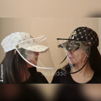 TOKYOBERRY NY DIAMOND CAP topi fashion face shield masker corona covid - Hitam
