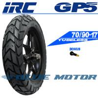 IRC GP5 70/90-17 RING 17 BAN MOTOR BEBEK TUBELESS DUAL PURPOSE SUPRA
