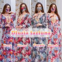 ORI DLUSIA FAZLUNA maxi dress arab/india/dubai/turki daster busui