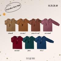 Bohopanna Shizuka Long Top/Bohobaby Baju Kaos Atasan Anak Panjang