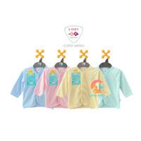 LIBBY 3-Piece Baju Anak Lengan Panjang Polos Warna (6-24 Bulan)
