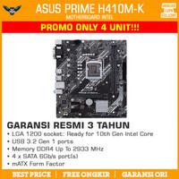 Motherboard Asus Prime H410M-K (LGA1200, H410, DDR4, USB3.2, SATA3)
