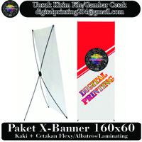 Standing Banner X-Banner 160x60cm - Bahan Spanduk