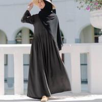 gamis polos baju muslim maxi maxy elegan casual dress santai longdres