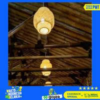 LAMPU LAMPION BAMBU LAMPU HIAS GANTUNG UNIK