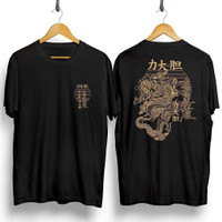 MS - BF193 Kaos Distro Pria T-Shirt Pria Kaos Pria Naga Emas