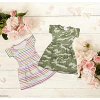 Dress Baju Anak Lengan Pendek Perempuan Cewek Rample Santai Kaos Adem