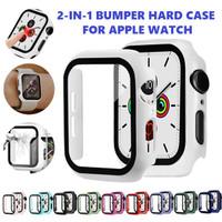Bumper Hard Case Apple Watch iWatch 38 40 42 44 mm Tempered Glass Case