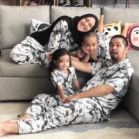 Piyama Tie dye Couple Family Set Rayon Premium Lengan Pendek Panjang