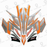 Striping Motor Yamaha Scorpio Z 2004 Putih-Orange