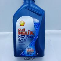 oli shell helix hx7 plus 5w-40 fully synthetic motor oli 1 liter