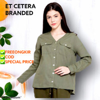 Blouse Etcetera Army/ Baju Hijab Branded - 8