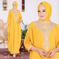 Gamis Kaftan Wanita Terbaru Kombinasi Payet Citra / Baju Pesta Dewasa