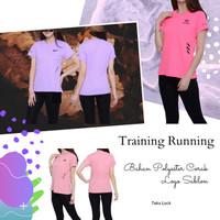 Baju training olahraga kaos running fitness lari senam wanita murah
