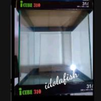 icube 310 kandila aquarium kaca bending 31 liter size 30*30*35 cm