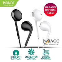 Headset Headphone Robot RE10 Wired Bass Android iPhone Original