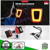 Lampu Belakang Helm Tas Ransel Sepeda LED USB Charger Waterproof IP65