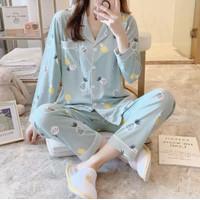 Piyama Baju Tidur Wanita Import PP Fashion Lengan Celana Panjang 7511 - L/XL
