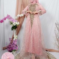 Kebaya Tile Gamis Brukat Bordir Modern Dress Wanita Muslim Baju Pesta