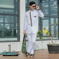 Terbaru Baju Koko dewasa ARRAFI One set Cogan series AR by Arya Saloka - white, M