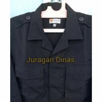 1 Stel Baju PDL Hitam Brimob Original Asli Jatah POLRI 2021 terbaru