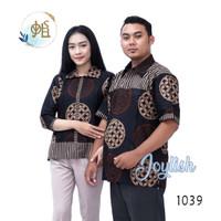1039 Baju Couple Batik Variasi Bola Kawung - Kemeja Pria Blus Wanita