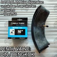 Ban Dalam 16 x 2.50 / 3.0 Sepeda Listrik Selis BMX FAT BIKE. DELI TIRE
