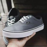 SPT SLP - Sepatu Sneakers Tali Vans Authentic Casual Kets Unisex Abu