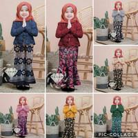 Baju Kebaya Anak Perempuan Cewek Batik Modern Murah Setelan Stelan