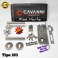 Kunci pintu pisah, handle Rossete + body isi pintu, kunci pintu rumah - 103