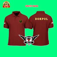 Polo Shirt Kaos Kerah Polo kedokteran Polisi Kaos kerah Dokpol premium